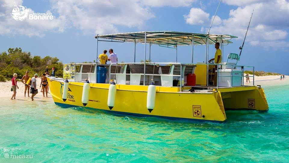 Entdecken Sie Bonaire mit das Karibik Wassersport Wassertaxi nach Klein Bonaire