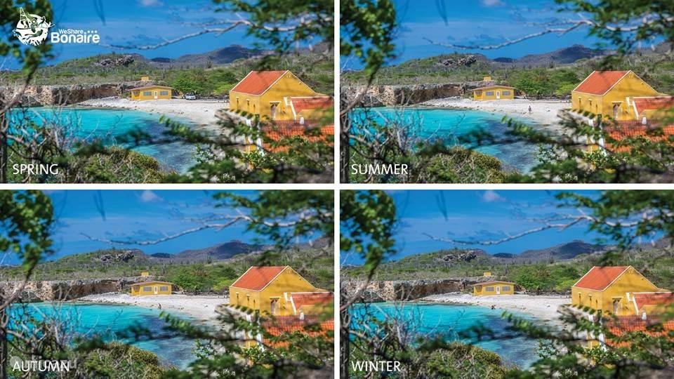 De vier jaargetijden op Bonaire