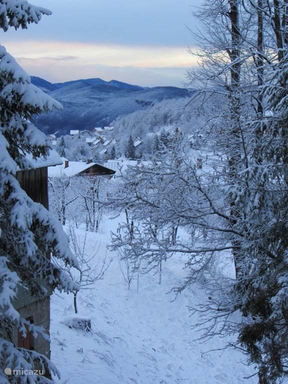 Uitzicht vanuit het dorp
