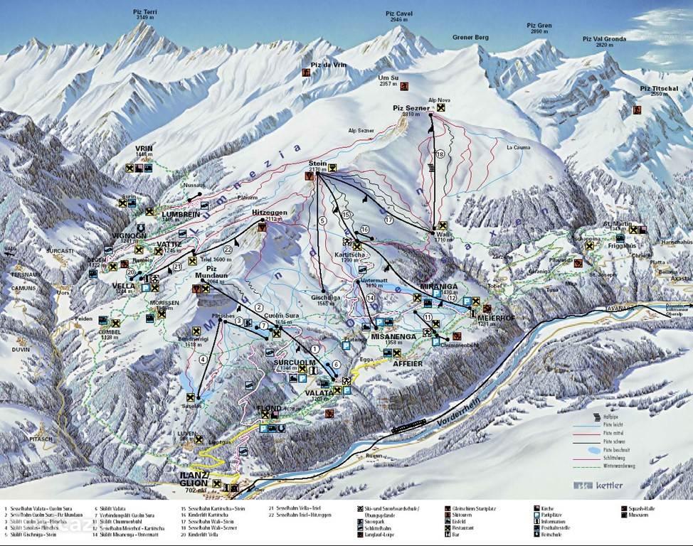 Val Lumnezia / Obersaxen skigebied