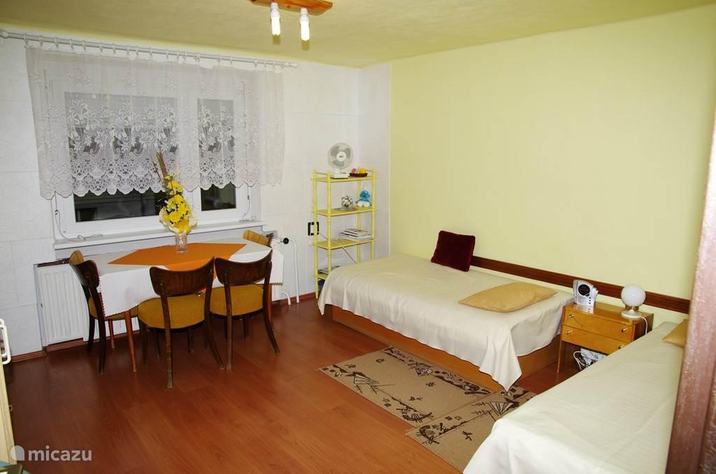 Simple maar mooie frisse slaapkamer.