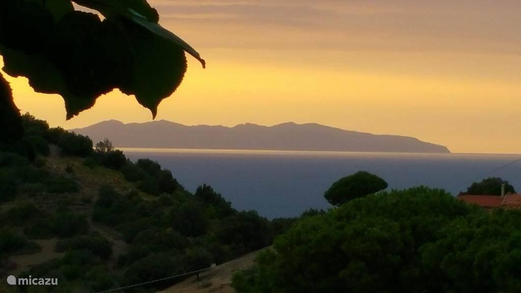 Uitzicht op het eiland Corsica