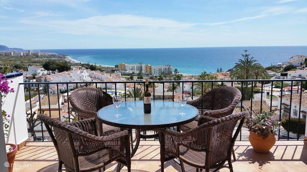 Vakantiehuis Spanje, Costa del Sol, Nerja - geschakelde woning Huis met schitterend zeezicht