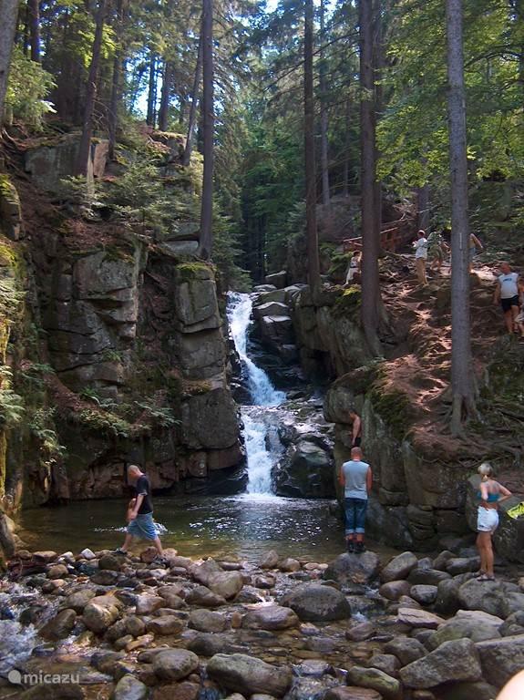 Niet ver van ons huis vandaan vindt u deze prachtige waterval, lokaal bekend als Wodospad Przesieka. U kunt bij warm weer pootje baden pof zelfs zwemmen, maar vergis u niet in de temperatuur van het bergwater.. brrrr