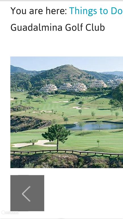 Golfbaan direkt aangrenzend