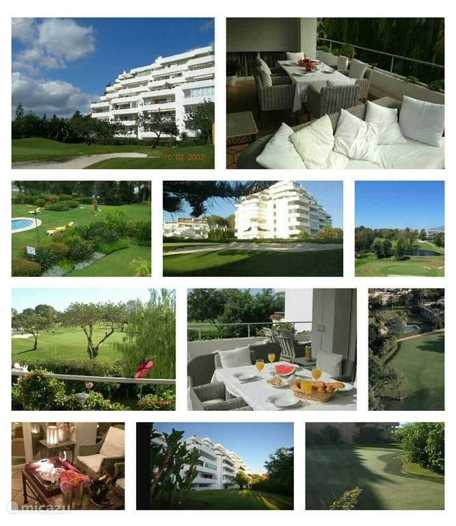 Appartement, tuin, golfbaan, terras