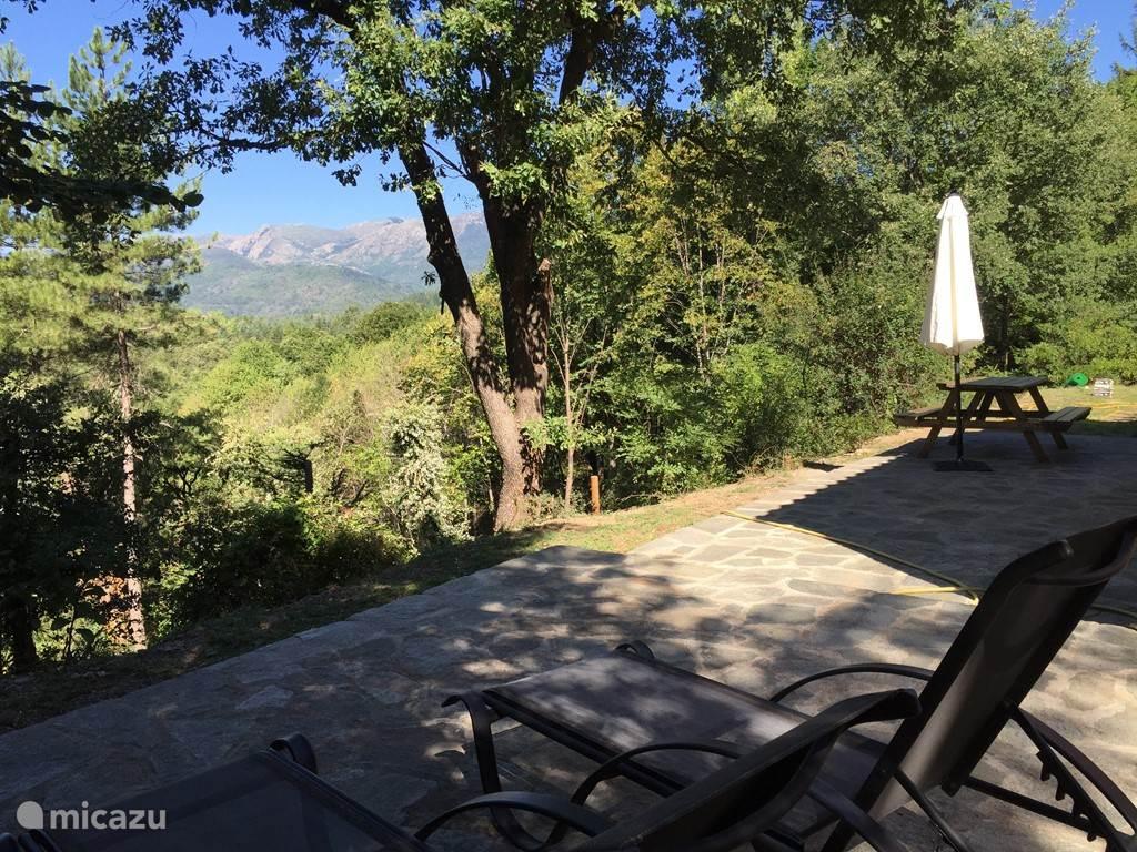 Panoramisch zicht vanuit terras