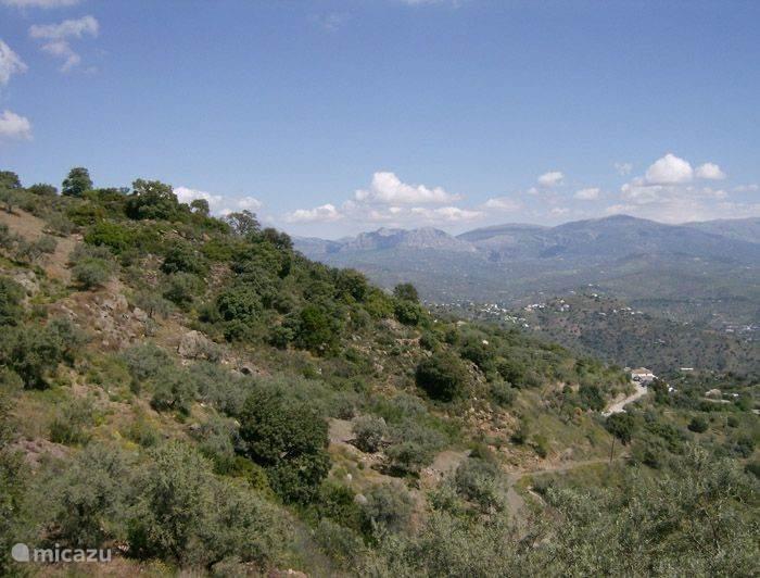 Het landschap rond Casita el Peregrino.