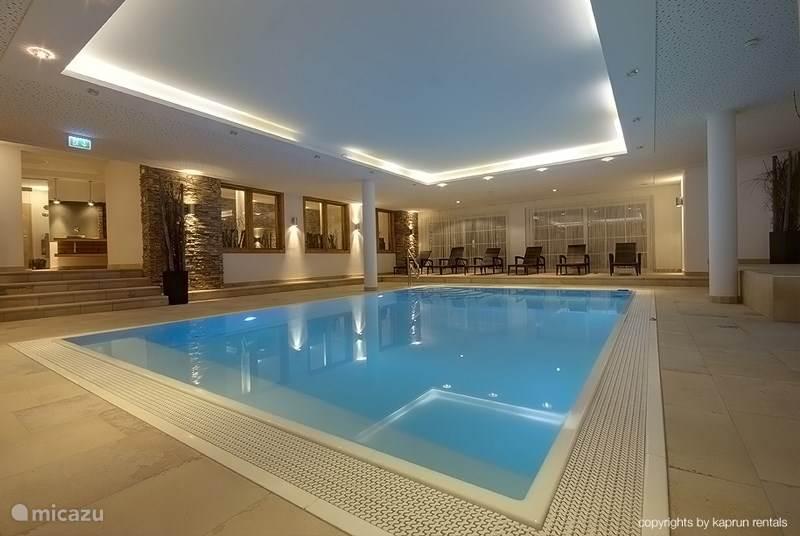 The swimming pool of the Kaprun Mountain Resort.