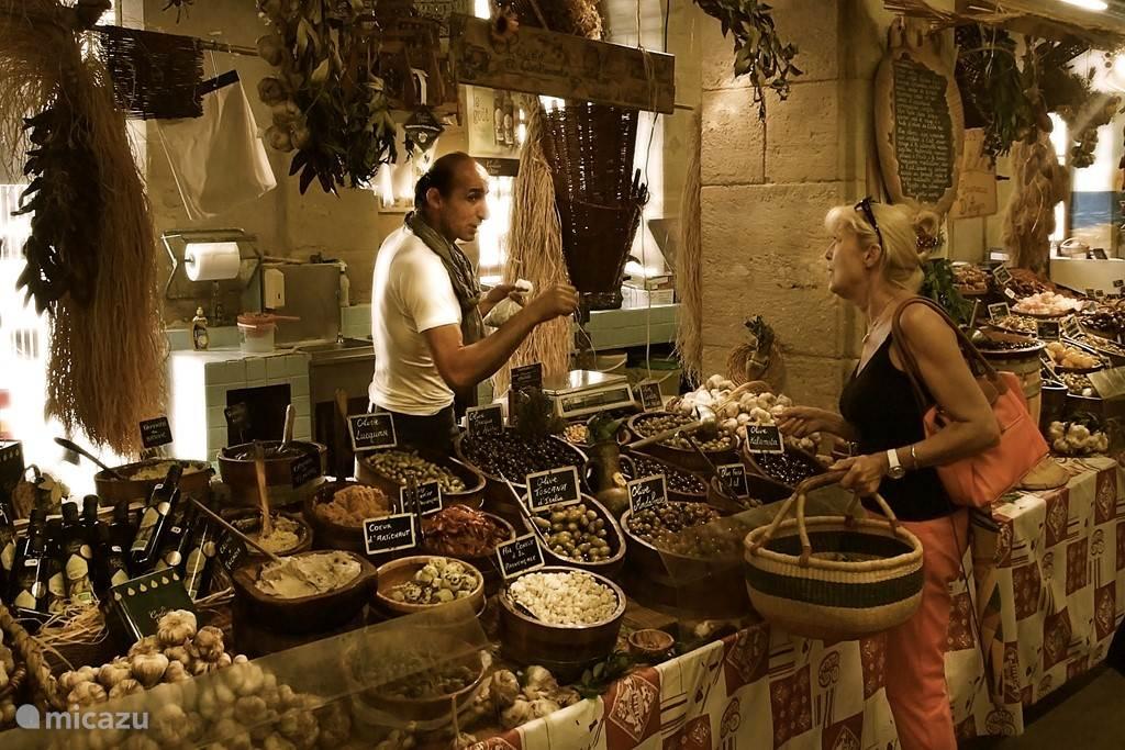 De markt in Autun