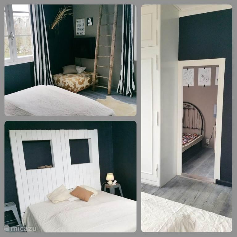 De Juud kamer met 2 x 1 bed en zijkamer met 140 bed