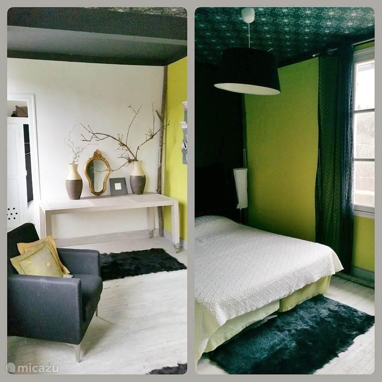 De Git kamer met 2 x 1 bed en zijkamer met 1 bed