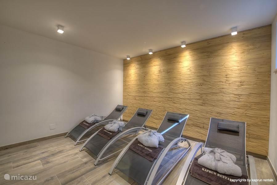 Even lekker relaxen na een rondje sauna en dan weer de sauna in!