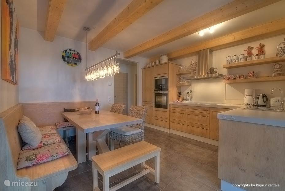 Spacious kitchen, fully equipped. You can put your delicious food directly on the table!