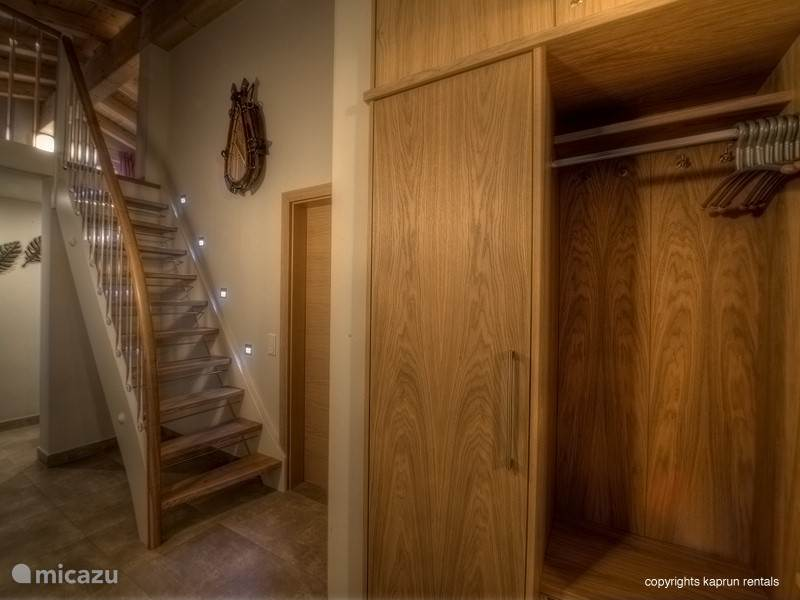 Through this staircase leads to the bedroom in the loft