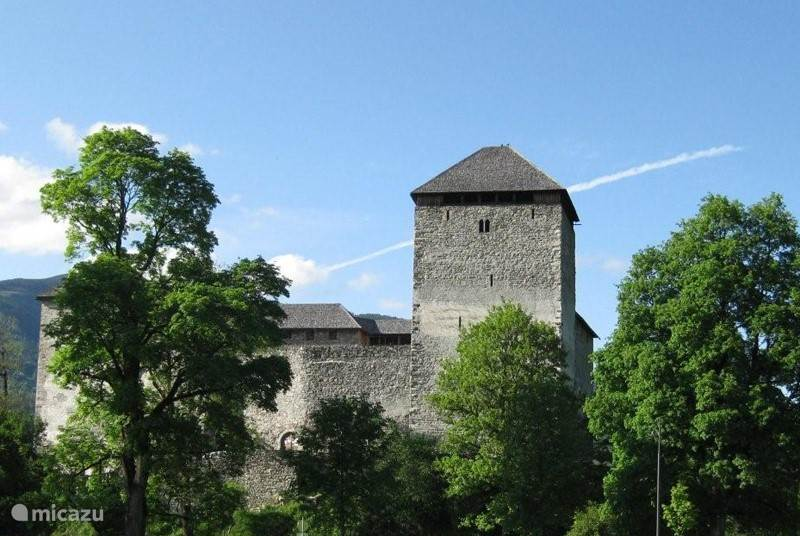 Het oude kasteel van Kaprun