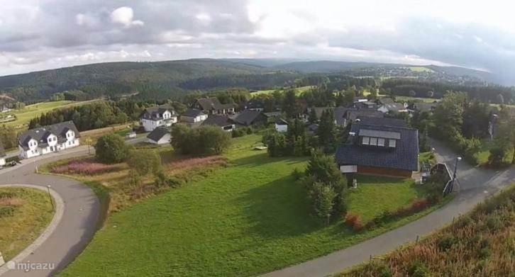 Het uitzicht vanaf ons balkon