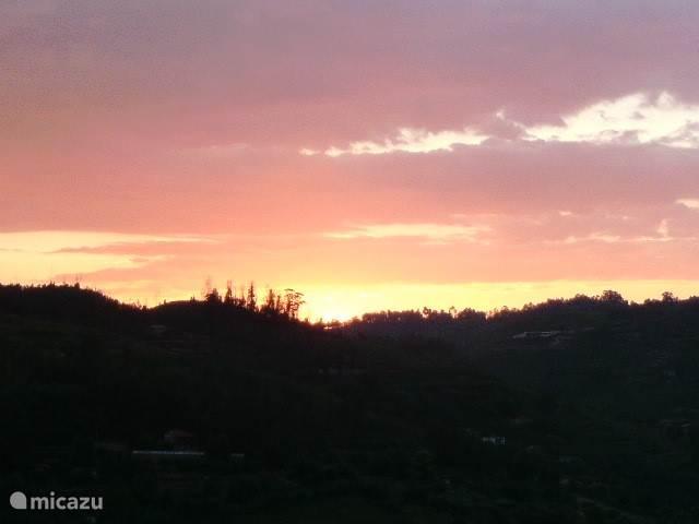 Zonsondergang...