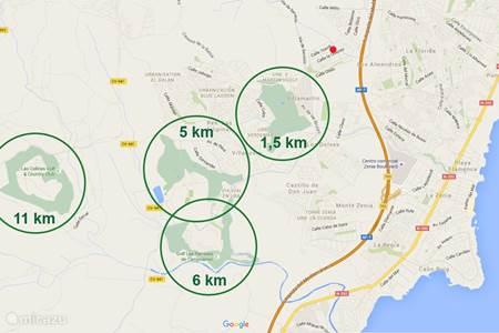 4 Golfbanen op kort gelegen afstand (1,5 km - 11 km)