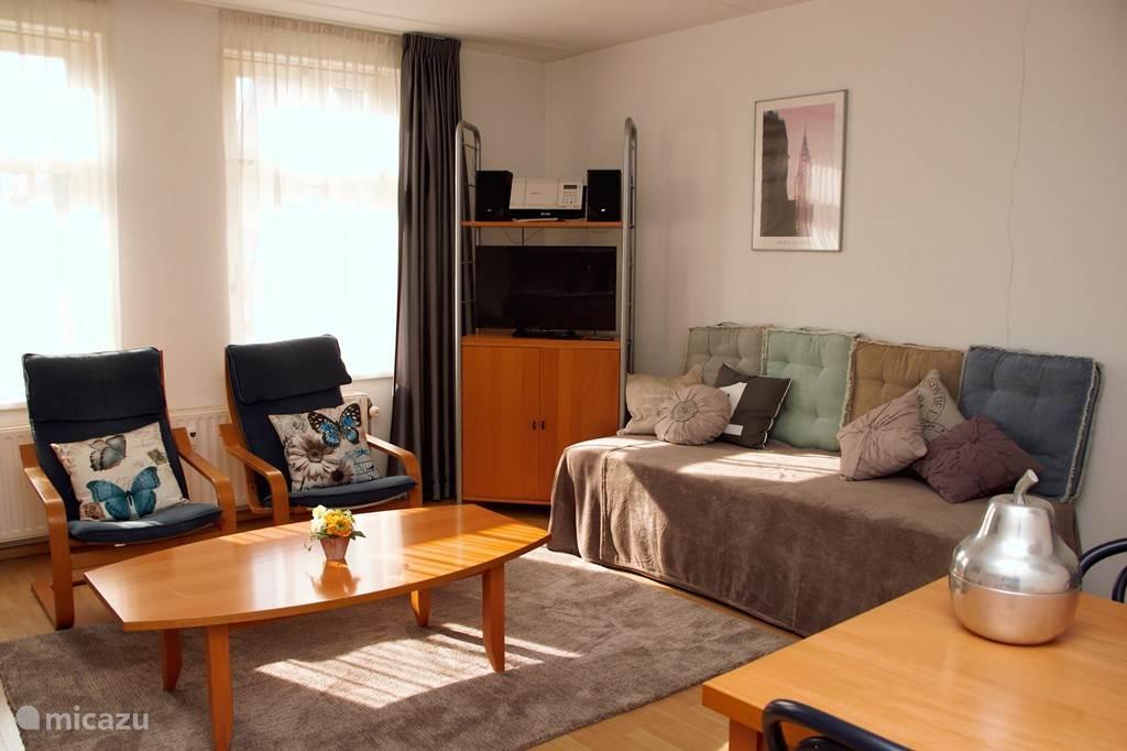 gezellige woonkamer met lounge divanbank en zithoek