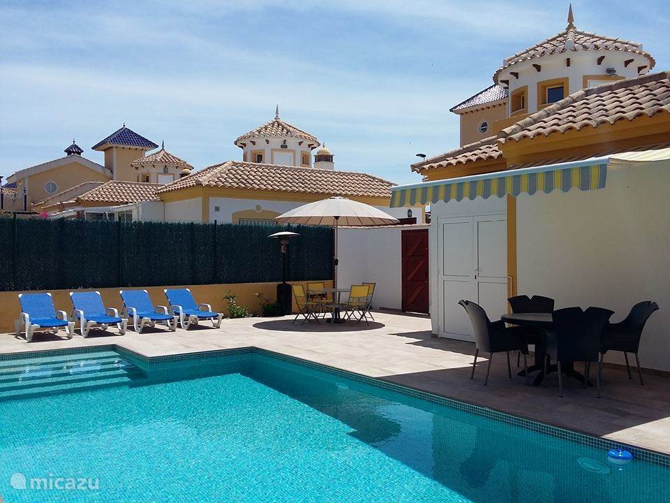 The brandnew pool  9 by 5 m and terraces, a little Paradise in Spain, to relax, swim, enjoy the sun, you will always come back!