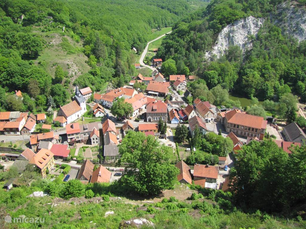 The beautiful village Questenberg.