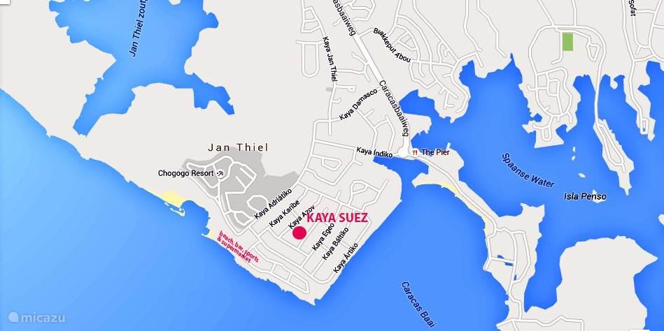Duiken / snorkelen, Curacao, Banda Ariba (oost), Jan Thiel, appartement Kaya Suez
