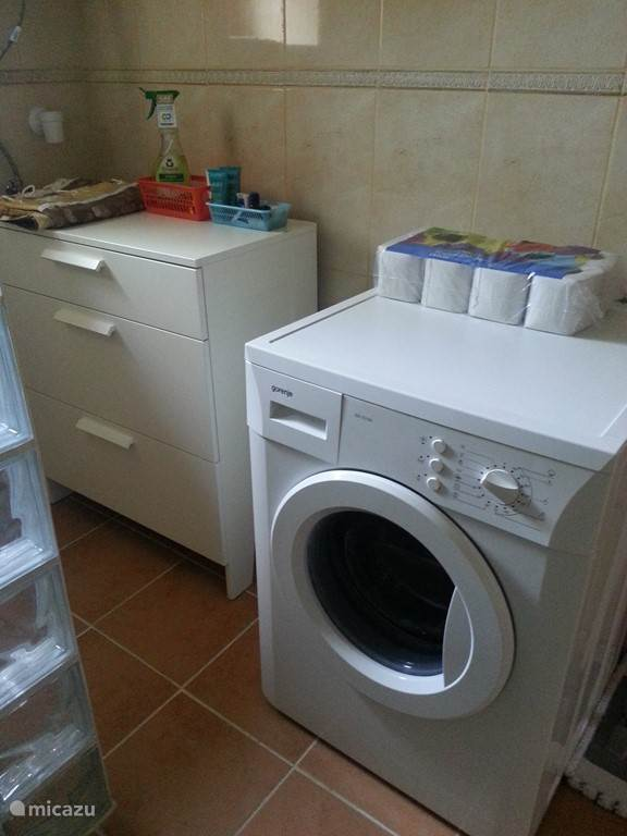 wasmachine in vakantiehuis