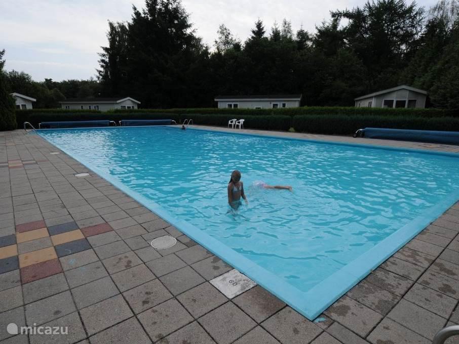 groot verwarmd zwembad