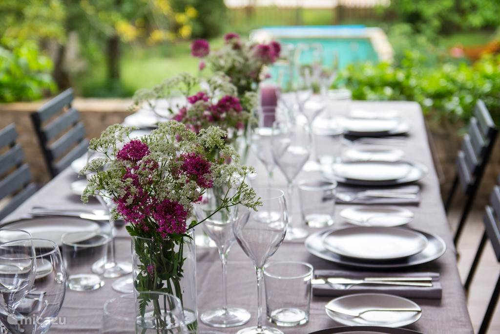 Eettafel veranda