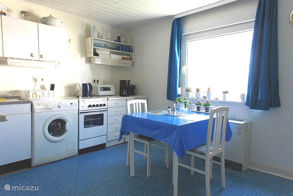 Spacious kitchen with washing machine