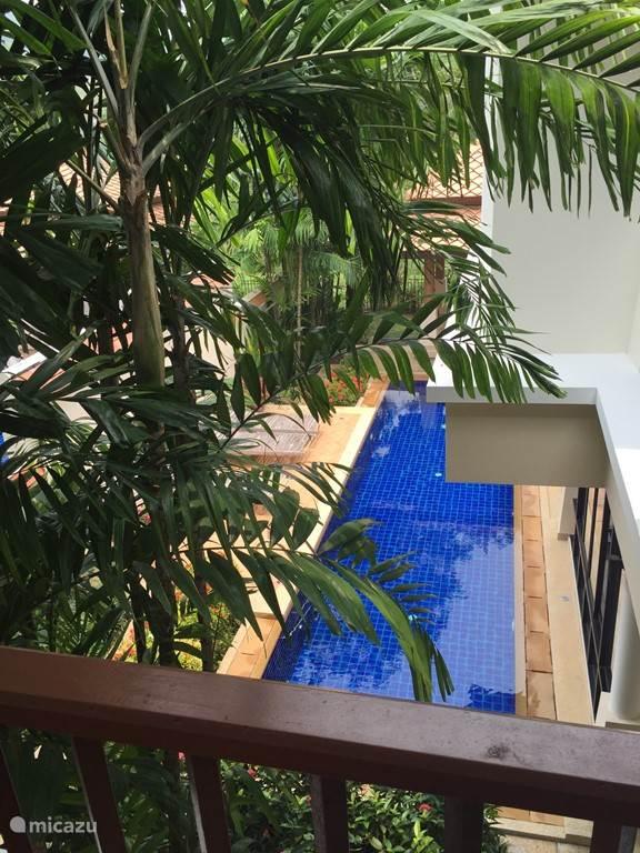 Zwembad vanuit gastenkamer