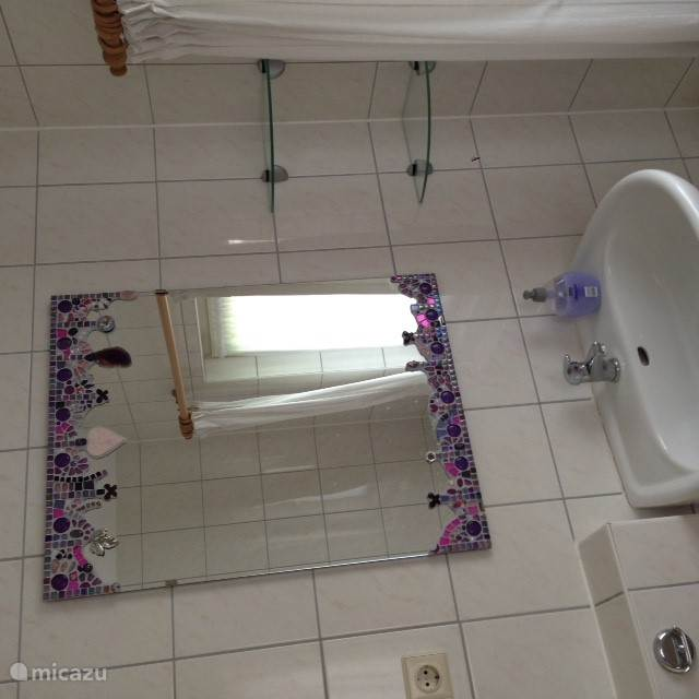 ruime douchegelegenheid met toilet