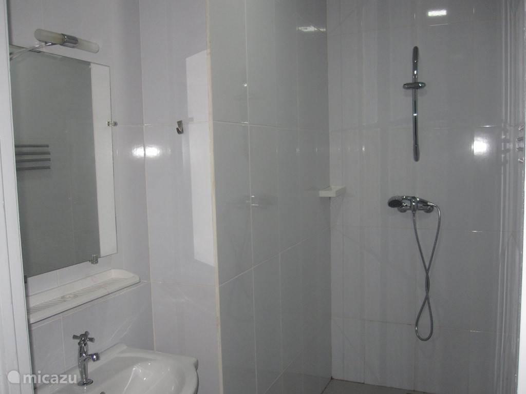 wastafel en douche