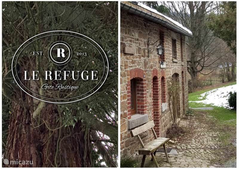 Le Refuge ... detached house with a very large garden bordering the forest.