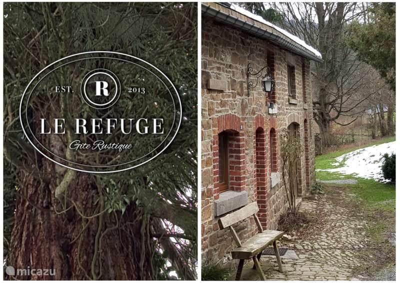 Le Refuge...vrijstaande woning met een hele ruime tuin grenzend aan het bos.