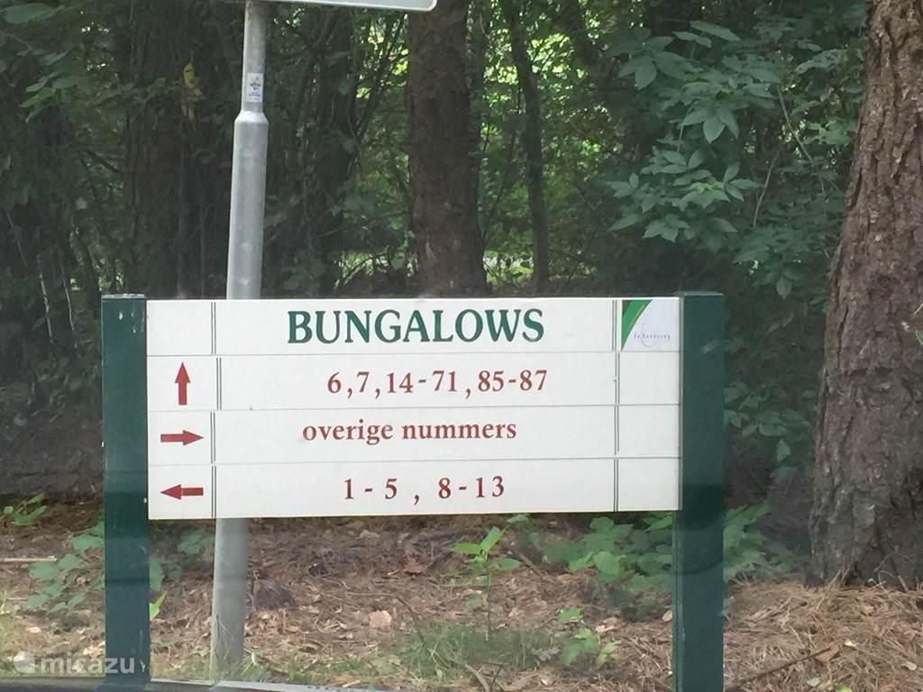Duidelijke weg bewijzering op heel het park. Verdwalen is uitgesloten
