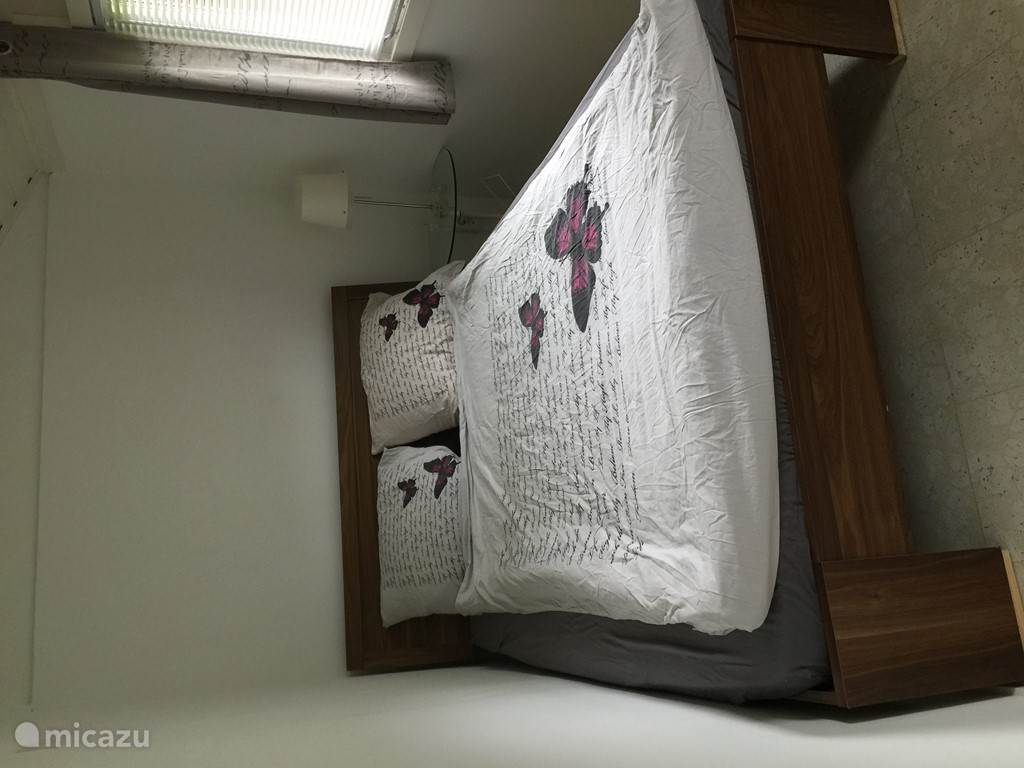 De andere slaapkamer met een twee persoonsbed