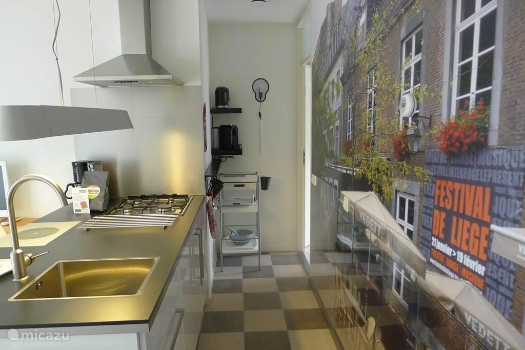 keukeneiland met fotobehang