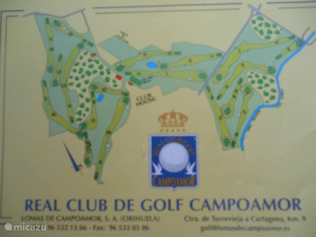 Golf Campoamor,Las Ramblas,Las Colinas,Villa Martin enz op minder dan 6 km.