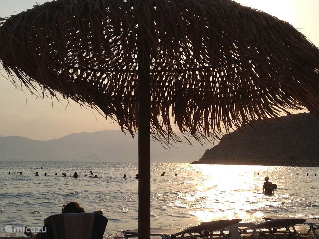 Nafplio: Karatona beach at sunset. 10 minutes away from our house.
