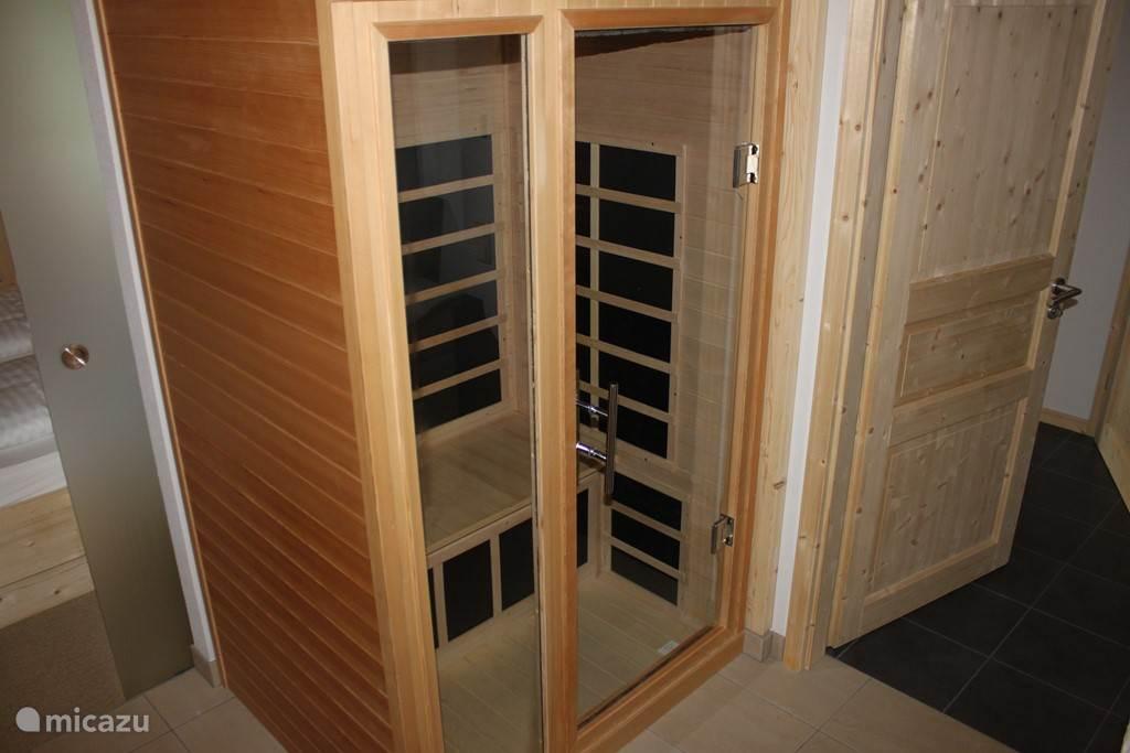and an infrared sauna