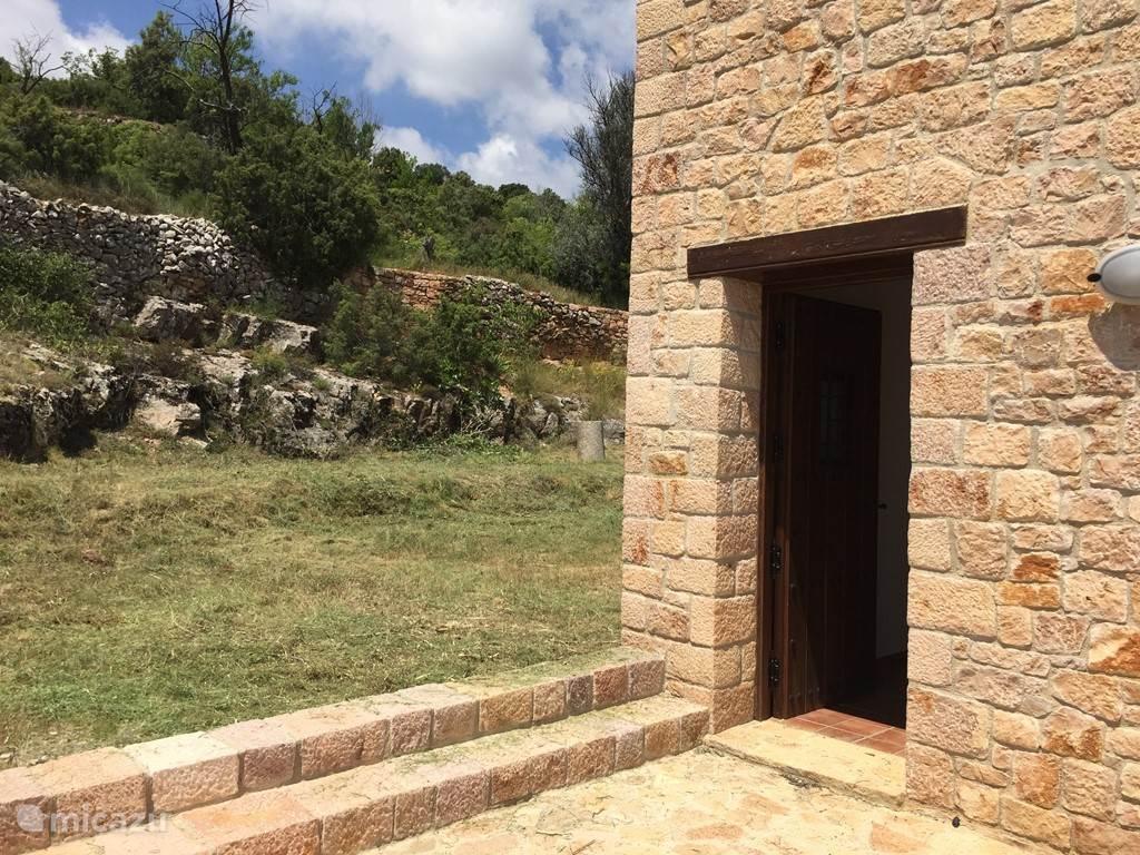 boventerras en toegang tot de tuin