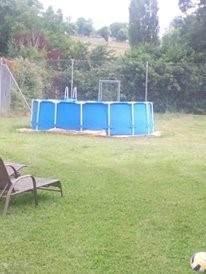 Terwijl het grote zwembad wordt verbouwd, is dit een heerlijke vervanging