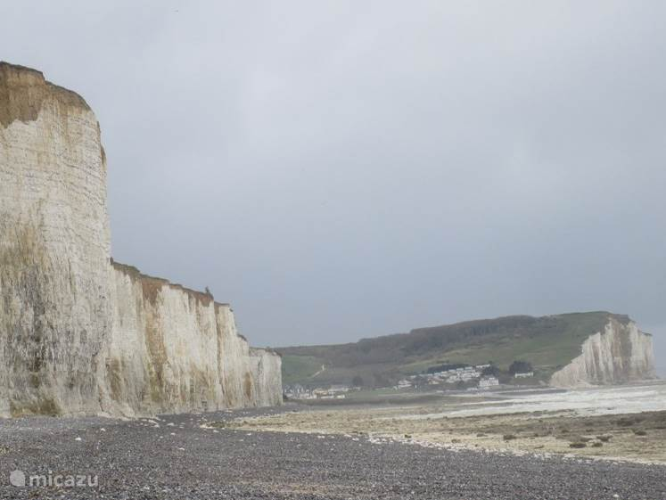 The famous cliffs  at the  beach of Mesnil Val