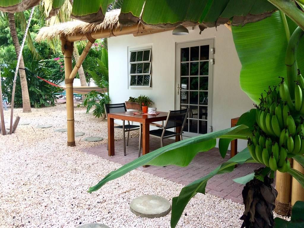 Casa Jardín Tropical 1 Dit verblijf met airco is geschikt voor 2 personen (maximaal voor 3 personen met mogelijkheid plaatsing extra bijzetbed of kinderledikant).