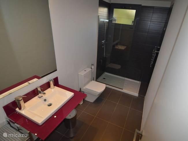 Badkamer nummer 1 tussen de slaapkamers op de begane grond.