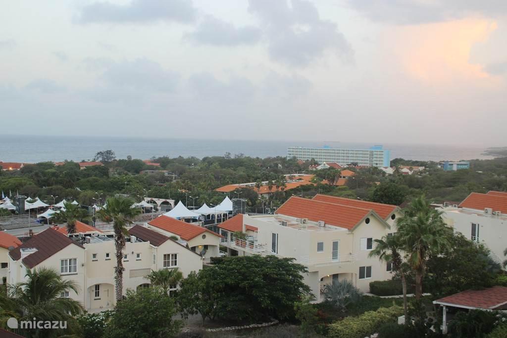 Uitzich vanaf het balkon