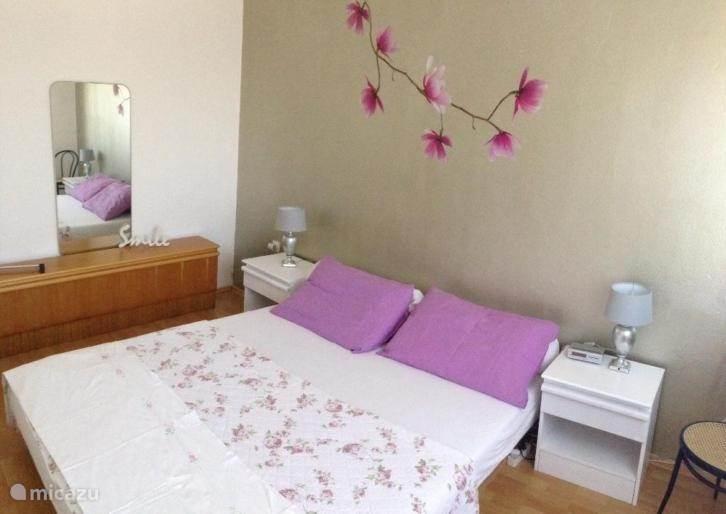 Grote slaapkamer met tweepersoons waterbed