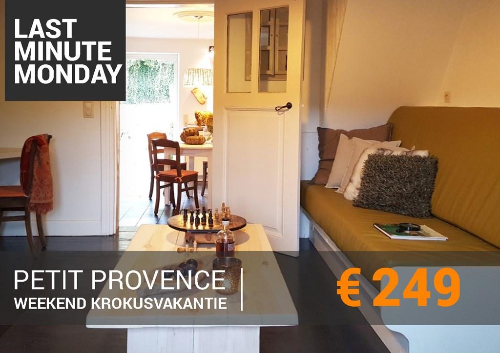 LAST MINUTE WEEKEND KROKUS € 249,-  In deze knusse Cottage, verscholen in een pittoresk dorpje, is het genieten..